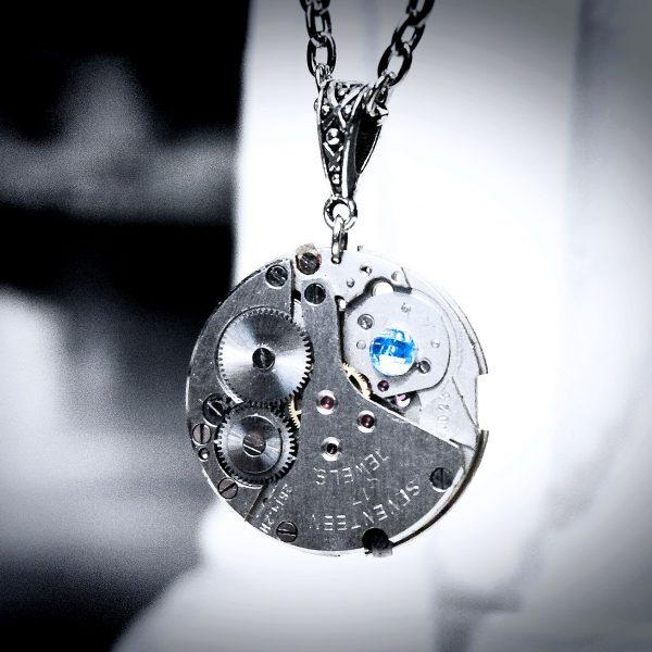 Steampunk necklace pendant collar burning man Soviet vintage