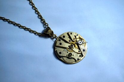 Gold steampunk pendant jewelry