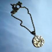 Gold steampunk pendant jewelry