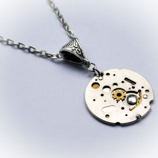 steampunk vintage watch necklace