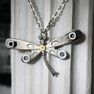 steampunk jewelry pendant dragonfly