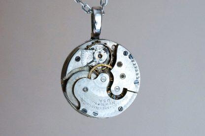 Steampunk silver vintage necklace