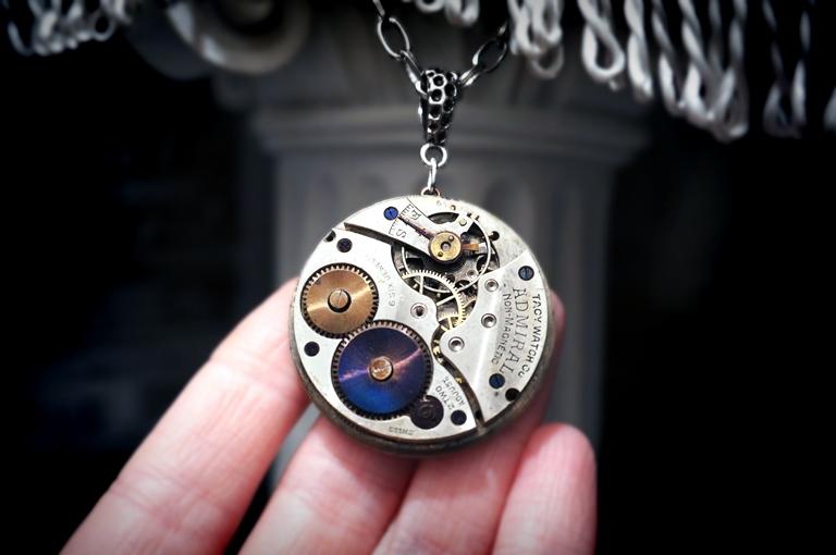 men's steampunk jewelry necklace