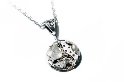 Steampunk soviet vintage necklace