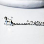 Steampunk pendant necklace dog