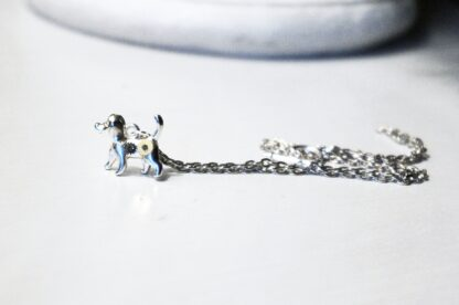 Steampunk pendant necklace dog