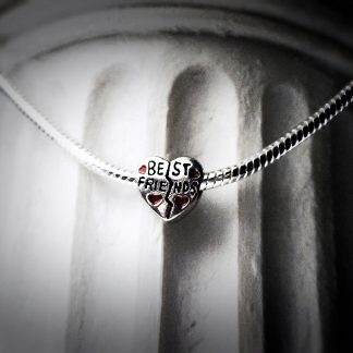 teampunk pandora style jewelry charm necklace