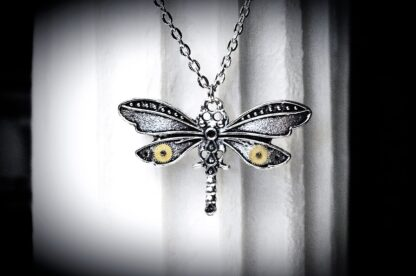 teampunk dragonfly jewelry necklace pendant