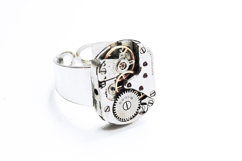 steampunk bdsm mens jewelry ring