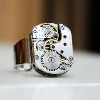 steampunk bdsm mens jewelry ring