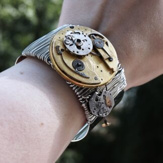 Apocalypse steampunk bracelet burning man