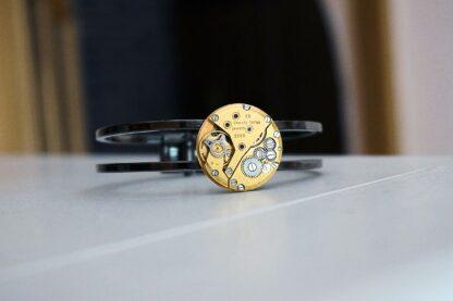 стимпанк бдсм позолоченный браслет с рубинами