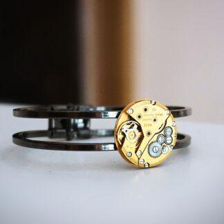 steampunk bdsm gilded bracelet