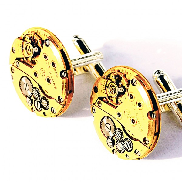 steampunk bdsm gold mens cufflinks