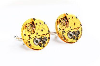 steampunk bdsm gold mens cufflinks