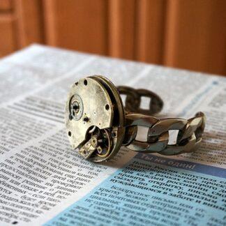 стимпанк бдсм мужской позолоченный браслет