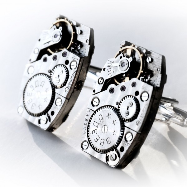 steampunk bdsm mens cuff links