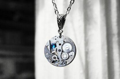 steampunk soviet vintage necklace rubies