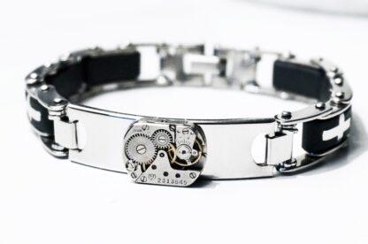 steampunk mens jewelry bracelet boyfriend gift