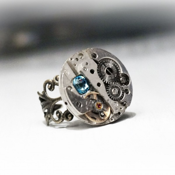 steampunk bdsm ring woman gift