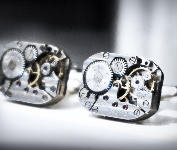 steampunk jewelry mens cufflinks