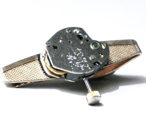 steampunk bdsm mens tie clip handmade