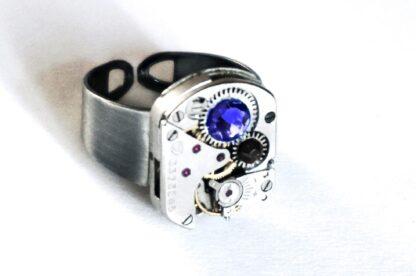 стимпанк бдсм мужское кольцо с рубинами