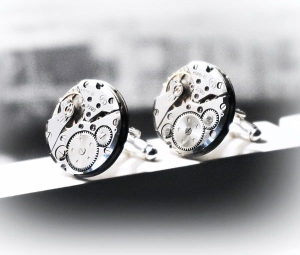steampunk bdsm mens cufflinks gift for him