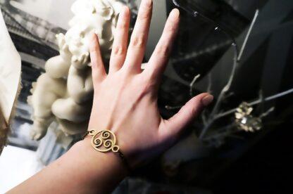 Steampunk BDSM jewelry triskele bracelete submissive dominant