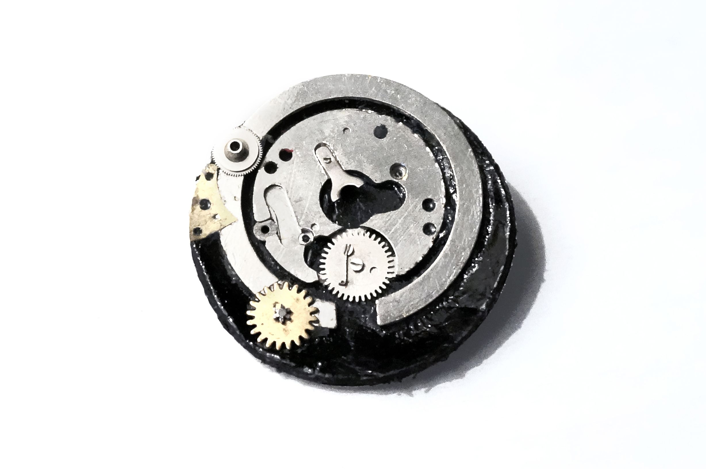 steampunk metal apocalyptic pin brooch