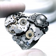 steampunk metal broken heart pin brooch