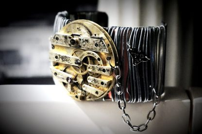 Steampunk BDSM Cuff Apocalypse burning man bracelet