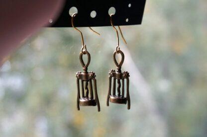 steampunk bdsm vinery earrings