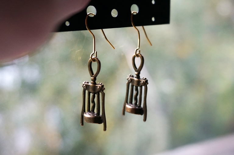steampunk bdsm vinery earrings