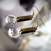 steampunk bdsm earrings