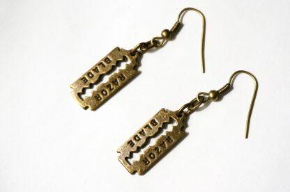 steampunk bdsm earrings blade