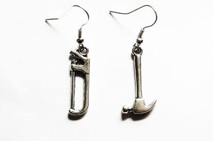 steampunk bdsm earrings