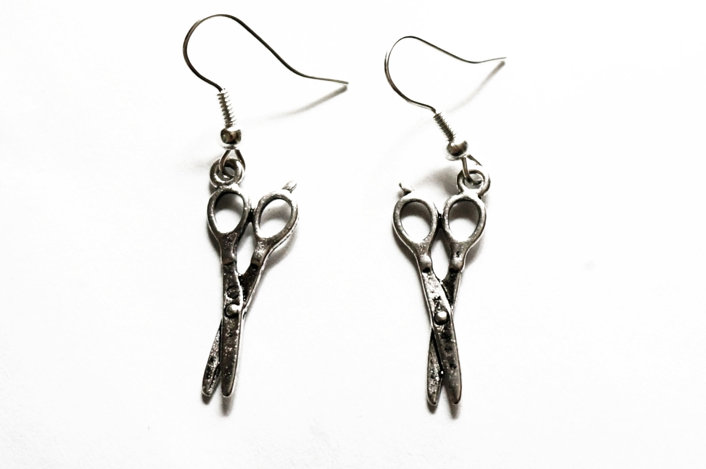 steampunk bdsm earrings scissors