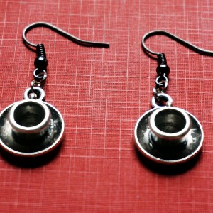 steampunk bdsm tea cup earrings