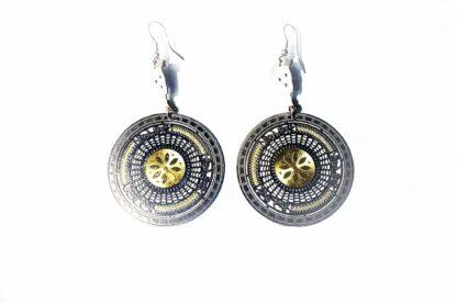 steampunk bdsm earrings jeweled rubies