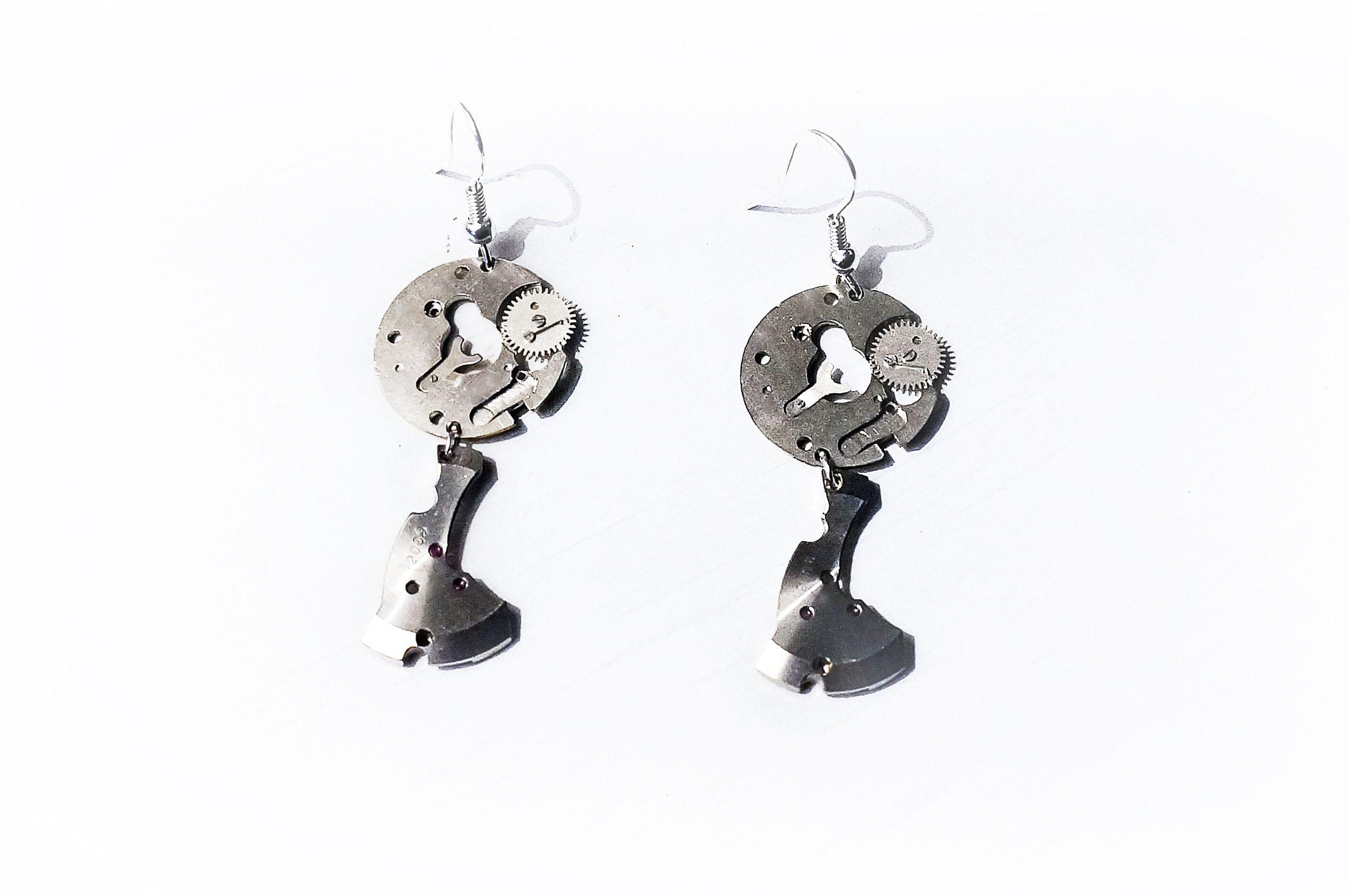 steampunk bdsm burning man earrings