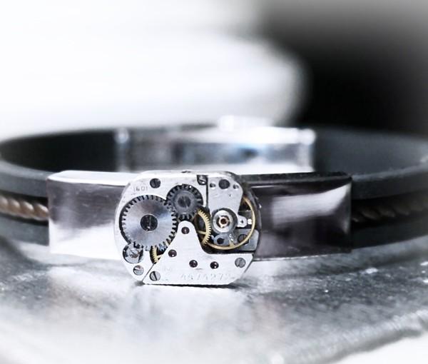 steampunk bdsm mens jewelry bracelet burning man
