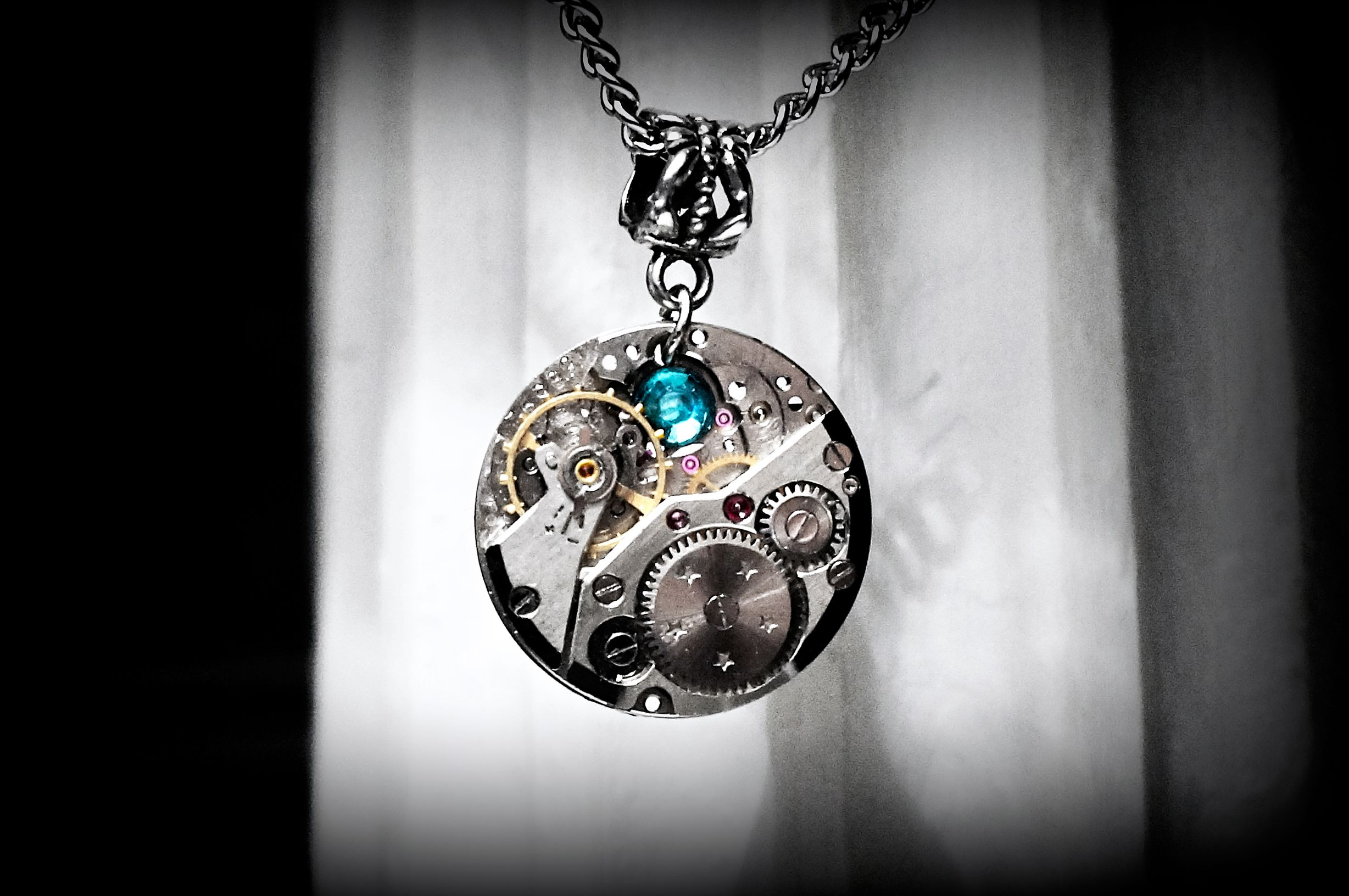 Steampunk Jewelry Pendant necklace