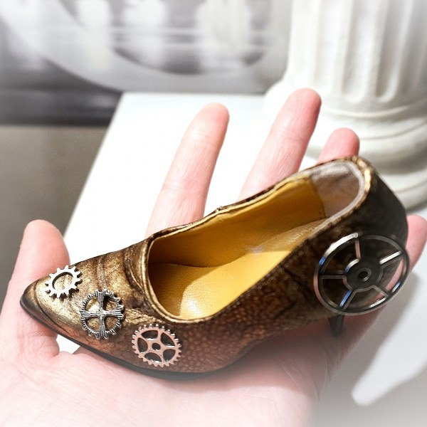 steampunk industrial souvenir shoe