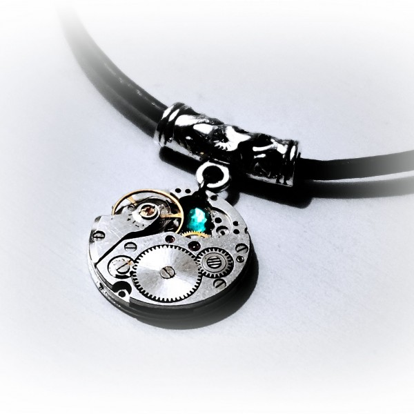 Steampunk bdsm necklace submissive collar