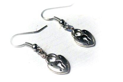 BDSM Earrings Key Heart lock wedding anniversary Gift for women girlfriend wife