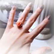 Gothic jewelry flower Ring birthday anniversary engagement wedding Gift