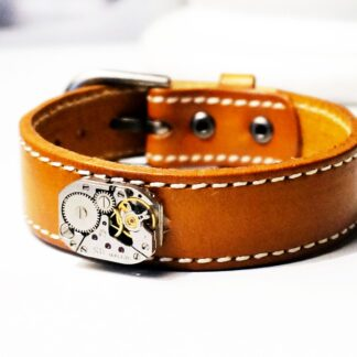 Steampunk BDSM jewelry men's genuine leather bracelet