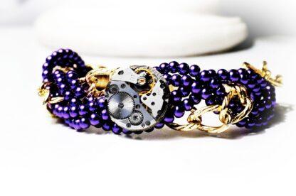 Steampunk BDSM jewelry chain bracelet