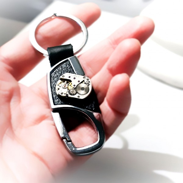 Steampunk BDSM keychain car genuine leather metal key chain